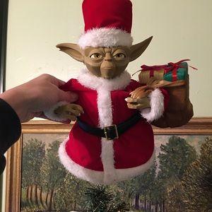 Santa Yoda tree topper